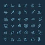 L'icône de Web d'ensemble a placé - station thermale et beauté Images stock