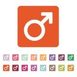 L'icône masculine Symbole d'homme plat Photographie stock libre de droits