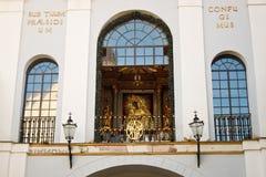 L'icône notre Madame de la porte de l'aube à Vilnius, Lithuanie image libre de droits
