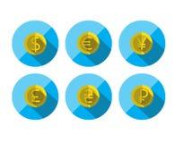 L'icône plate d'argent a placé pour le Web et l'application mobile Images stock