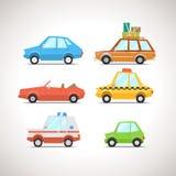 L'icône plate de voiture a placé 1 Photographie stock libre de droits