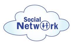 L'icône pour le réseau social Images stock