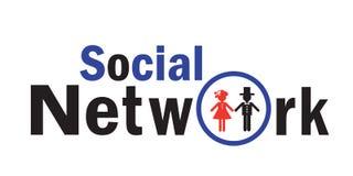 L'icône pour le réseau social Photos libres de droits