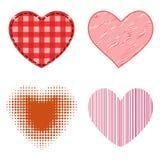 L'icône rouge de vecteur de coeur de style différent a isolé le symbole de Saint Valentin d'amour et épouser romantique de concep Images stock