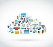 L'icône usine le nuage de technologie. cloud computing Image libre de droits