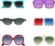 L'icona degli occhiali da sole ha impostato 1 Fotografia Stock Libera da Diritti