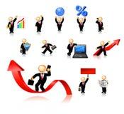L'icona degli uomini d'affari ha impostato 2 Fotografia Stock