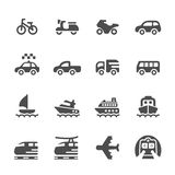 L'icona dei veicoli e del trasporto ha messo 3, il vettore l'ENV 10 Fotografie Stock Libere da Diritti