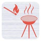 L'icona del barbecue Fotografie Stock Libere da Diritti