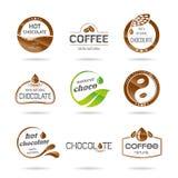 L'icona del cioccolato, del coffe e del caramello progetta - l'autoadesivo. Fotografia Stock Libera da Diritti