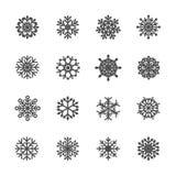 L'icona del fiocco di neve ha messo 4, il vettore eps10 royalty illustrazione gratis