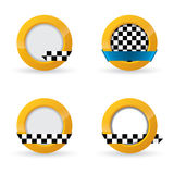 Disegni dell'icona del taxi Immagini Stock