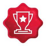 L'icona del trofeo nebbiosa è aumentato bottone rosso dell'autoadesivo dello starburst royalty illustrazione gratis