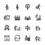 L'icona dell'amministrazione delle risorse umane ha messo 6, il vettore eps10 illustrazione di stock