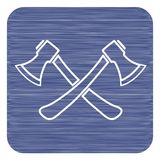 L'icona dell'ascia Simbolo dell'ascia Immagini Stock Libere da Diritti