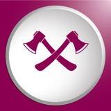 L'icona dell'ascia Simbolo dell'ascia Immagine Stock