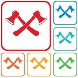 L'icona dell'ascia Simbolo dell'ascia Fotografia Stock