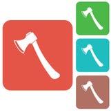 L'icona dell'ascia Simbolo dell'ascia Fotografia Stock Libera da Diritti