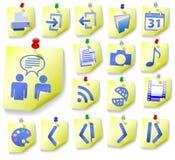L'icona della buccia dell'appunto del blocchetto per appunti ha impostato 2 Fotografia Stock