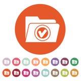 L'icona della cartella Simbolo dell'archivio piano Fotografia Stock