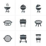 L'icona della griglia Simbolo del barbecue fotografia stock libera da diritti