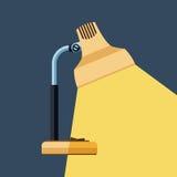 L'icona della lampada da tavolo Immagine Stock