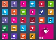 L'icona della metropolitana ha messo con effetto ombra lungo per il computer, il web, il telefono e la linguetta illustrazione di stock