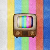 L'icona della televisione (TV) ha riciclato il mestiere di carta. Fotografia Stock Libera da Diritti