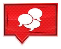 L'icona di conversazione nebbiosa è aumentato bottone rosa dell'insegna royalty illustrazione gratis