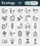 L'icona di Eco ha impostato su priorità bassa bianca Fotografie Stock