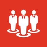 L'icona di lavoro di squadra e della gestione Gruppo e gruppo, lavoro di squadra, la gente, alleanza, simbolo della gestione Ui w illustrazione vettoriale