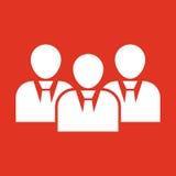 L'icona di lavoro di squadra e della gestione Gruppo e gruppo, lavoro di squadra, la gente, alleanza, simbolo della gestione Ui w illustrazione di stock