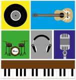 L'icona di musica Immagini Stock