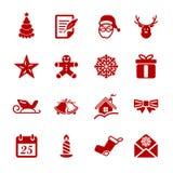 L'icona di Natale ha messo 2, il vettore eps10 Fotografia Stock Libera da Diritti