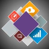 L'icona di schiocco ha messo per il sito Web con spazio per testo Fotografia Stock