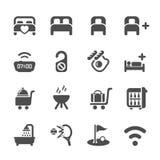 L'icona di servizio degli esercizi alberghieri ha messo 10, il vettore eps10 Immagine Stock Libera da Diritti