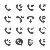 L'icona di telefonata ha messo 3, il vettore eps10 Fotografie Stock Libere da Diritti