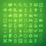 L'icona di vettore della lamina piatta universale 64 ha messo per i desighers di web, il ui, siti, Fotografia Stock