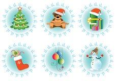 L'icona di vettore ha impostato per il vostro natale o nuovo anno illustrazione di stock
