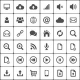 L'icona di web di Internet ingrassa il bianco Vettore Fotografie Stock
