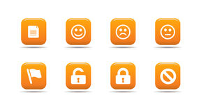 L'icona di Web ha impostato 1  Serie dell'albicocca Fotografie Stock