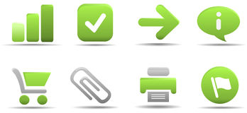 L'icona di Web ha impostato 1 | Serie dell'erba Immagine Stock Libera da Diritti