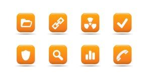 L'icona di Web ha impostato 2| Serie dell'albicocca Fotografia Stock Libera da Diritti