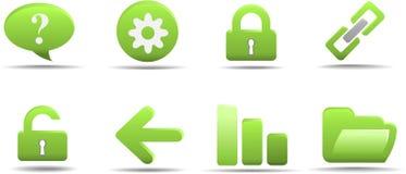 L'icona di Web ha impostato 2 | Serie dell'erba Fotografia Stock Libera da Diritti