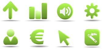 L'icona di Web ha impostato 3   Serie dell'erba Immagine Stock