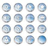 L'icona di Web ha impostato 4 (estremità nera 16 Fotografia Stock