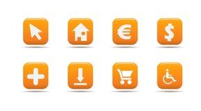 L'icona di Web ha impostato 4| Serie dell'albicocca Immagine Stock Libera da Diritti