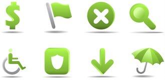 L'icona di Web ha impostato 4   Serie dell'erba Fotografie Stock Libere da Diritti