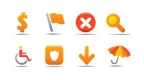 L'icona di Web ha impostato 4 | Serie della zucca Fotografie Stock