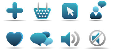L'icona di Web ha impostato 5 | Serie del Aqua Fotografia Stock Libera da Diritti